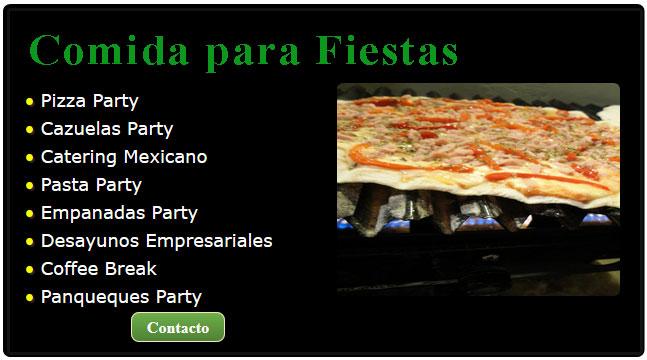 comidas mexicanas para fiestas, comida para fiestas, comidas para fiestas mexicanas, servicio de catering para fiestas, cazuelas de comida para fiestas, servicio pizzas para fiestas,
