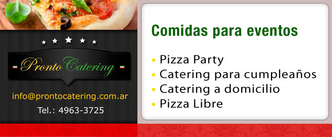 menu para catering, pizza party capital federal, pizza libre para festejar cumpleaños