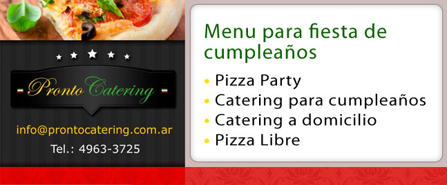 servicio de catering castelar, pizza party zona oeste castelar
